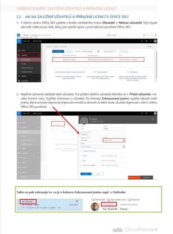 Screenshot Založení uživatelů