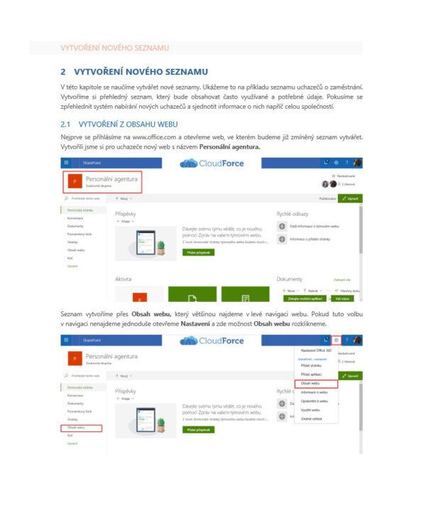Základní práce se seznamy na SharePointu Online 1